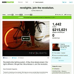 revolights. join the revolution. by Kent, Adam & Jim