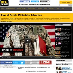 Days of Revolt: Militarizing Education