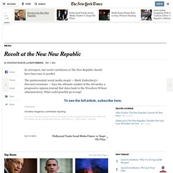 Revolt at the New New Republic