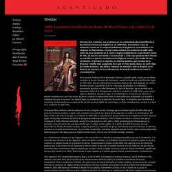 '1688. La primera revolución moderna' de Steve Pincus, a la venta el 3 de mayo - Acantilado Editorial