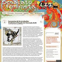 Las poetas de la revolución feminista/el legado de Gioconda Belli « Desacato Feminista