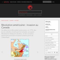 Révolution américaine : invasion au Canada