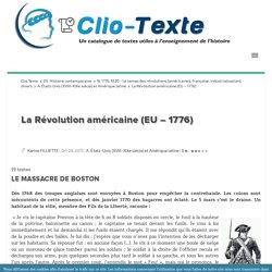 La Révolution américaine (EU - 1776) Clio Texte