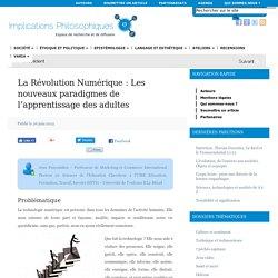 La Révolution Numérique : Les nouveaux paradigmes de l'apprentissage des adultes