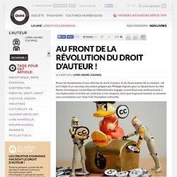 Au front de la révolution du droit d'auteur !