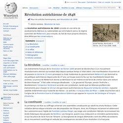 Révolution autrichienne de 1848