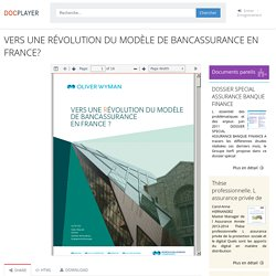 ⭐VERS UNE RÉVOLUTION DU MODÈLE DE BANCASSURANCE EN FRANCE?