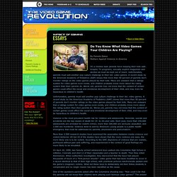 """The Video Game Revolution: """"Do You Know What Video Games Your Children Are Playing?"""" by Pamela Eakes"""