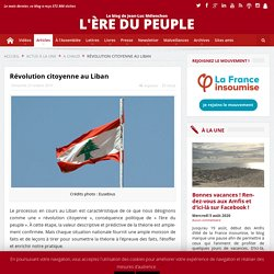 Révolution citoyenne au Liban