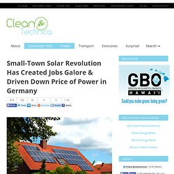 Small-Town Solar Revolution Has Created Jobs Galore & Driven Down Price of Power in Germany