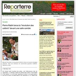 """Pierre Rabhi lance la """"révolution des colibris"""" devant une salle comble"""