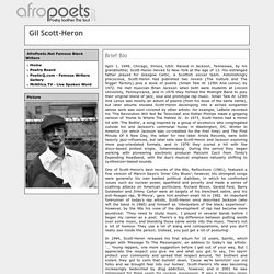 gil scott-heron poems, gil scott-heron poetry, The Revolution Will Not Be Televised gil scott-heron - Welcome to Famous Black American Poet Gil Scott-Heron PoetsPage... Collection of poems written by Black American Born Poet Gil Scott-Heron can be found h