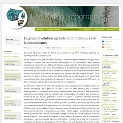 La 3ème révolution agricole du numérique et de la connaissance