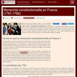La Révolution française : la Monarchie Constitutionnelle (1789-1792)