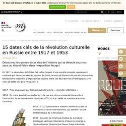15 dates clés de la révolution culturelle en Russie entre 1917 et 1953 Exposition Rouge au Grand Palais jusqu'au 1er juillet 2019