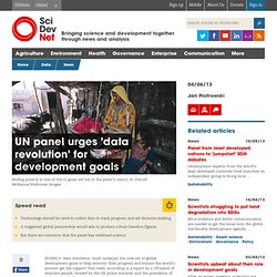 UN panel urges 'data revolution' for development goals