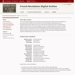 French Revolution Digital Archive: From the curator