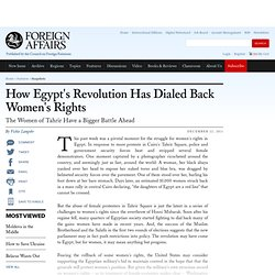 How Egypt's Revolution Has Dialed Back Women's Rights
