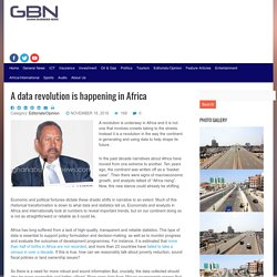 A data revolution is happening in Africa