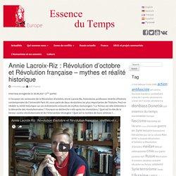 Annie Lacroix-Riz: Révolution d'octobre et Révolution française – mythes et réalité historique