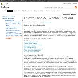 La révolution de l'identité InfoCard