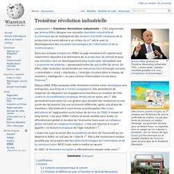 Troisième révolution industrielle