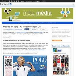 Médias en ligne : 10 tendances tech US / Metamedia