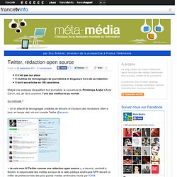 Twitter, rédaction open source