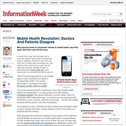 Mobile Health Revolution: Doctors And Patients Disagree - Healthcare - Mobile & Wireless