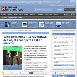Tech.days 2014 : La révolution des objets connectés est en marche