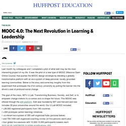 MOOC 4.0: The Next Revolution in Learning & Leadership