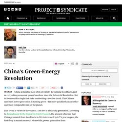 China's Green-Energy Revolution by John A. Mathews and Hao Tan