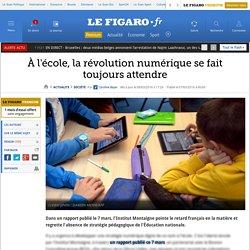 À l'école, la révolution numérique se fait toujours attendre