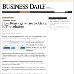 NDEMO: How Kenya gave rise to Africa ICT revolution - Opinion and Analysis