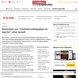 """Saint-Brieuc : Numérique: une """"révolution pédagogique en marche"""", selon Ayrault"""