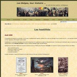 Etapes de la Révolution belge de 1830 – Muette de Portici - Hostilités