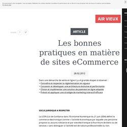 Les bonnes pratiques en matière de sites eCommerce - Revolution 9