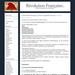 La Révolution française en seconde : proposition de cours