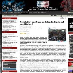 Révolution pacifique en Islande, black-out des Médias