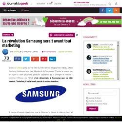La révolution Samsung serait avant tout marketing