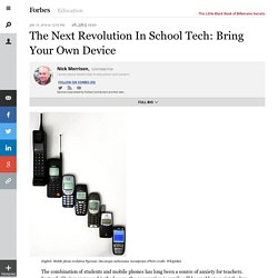 The Next Revolution In School Tech: Bring Your Own Device