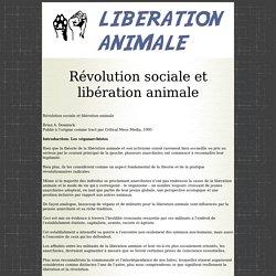 Révolution sociale et libération animale