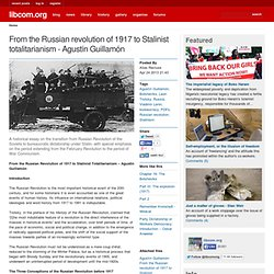 From the Russian revolution of 1917 to Stalinist totalitarianism - Agustín Guillamón