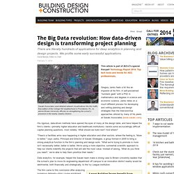 The Big Data revolution: How data-driven design is transforming project planning