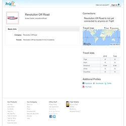 Revolution Off Road Travel Profile - TripIt