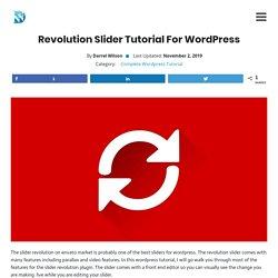 Revolution Slider Tutorial For Wordpress