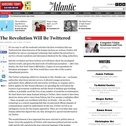 The Revolution Will Be Twittered - The Atlantic Politics Channel