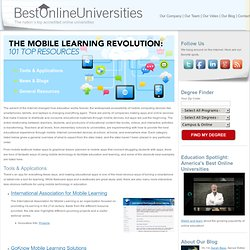 The Mobile Learning Revolution: 101 Top Resources