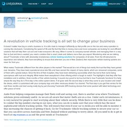 A revolution in vehicle tracking is all set to change your business: vantracking1