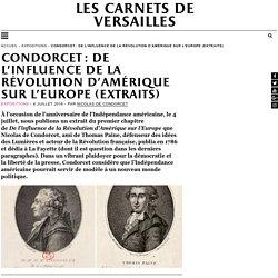 Condorcet : De l'influence de la Révolution d'Amérique sur l'Europe (extraits)